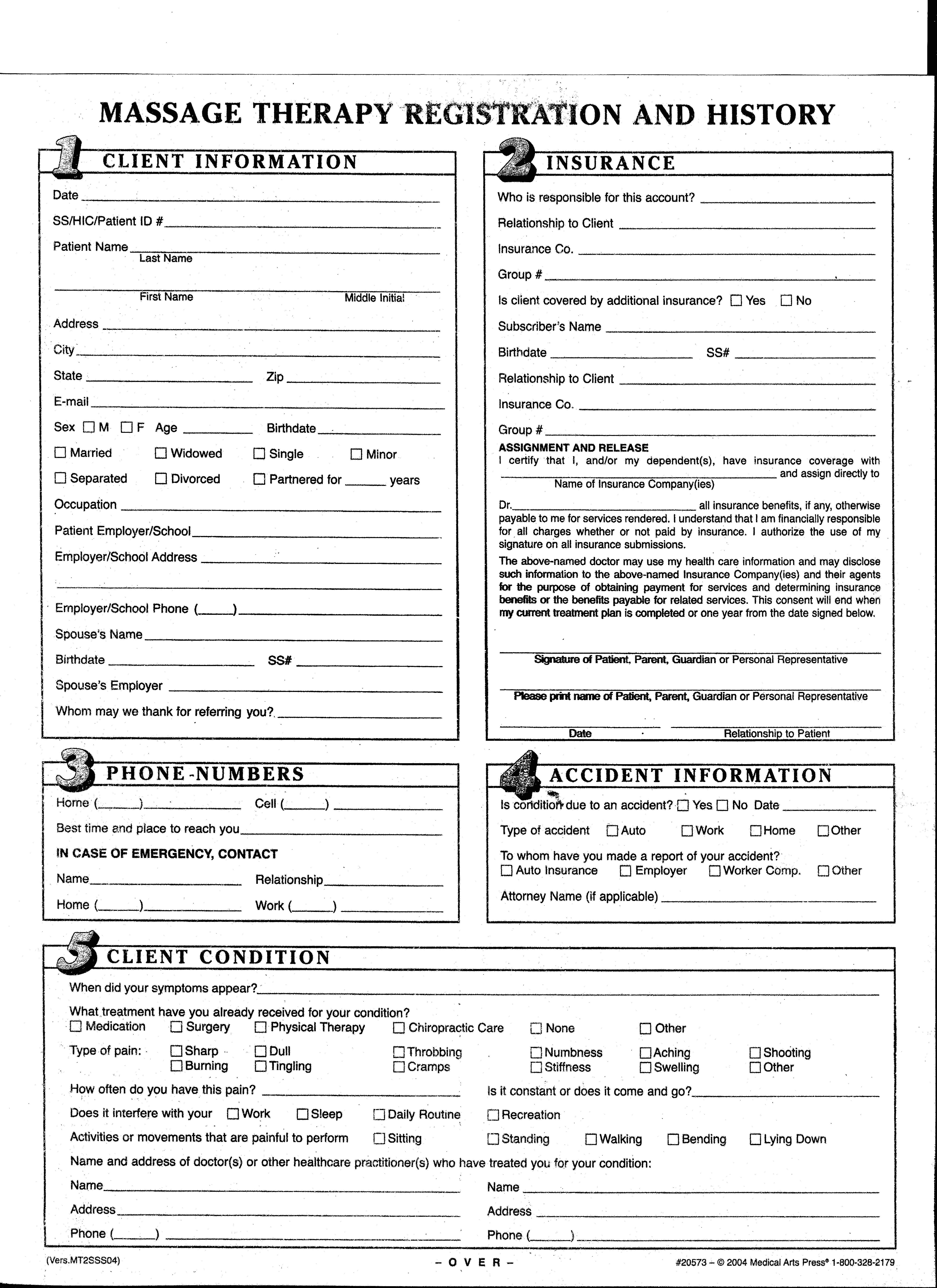 Intake Forms Welcome to Bodyworks and BodynBalance – Massage Intake Form